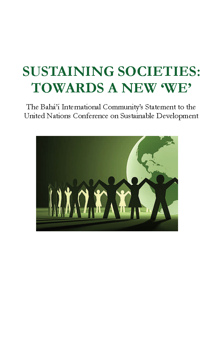 "Sustaining Socieities: Towards a New 'We"" (cover)"