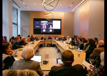 Sixty participants from the UN community gathered together to discuss the intersection between global citizenship and global governance in light of the 75th anniversary of the United Nations.