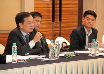Mr. Duong Tri Hien,  Counsellor, Permanent Mission of  Viet Nam to ASEAN, sharing his  thoughts during the consultation