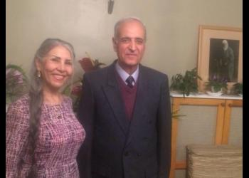 Behrooz Tavakkoli and Mahvash Sabet, both members of the Yaran who recently completed 10-year prison sentences.